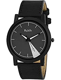 RELISH RE-S8056BB Black Slim Analog Watches For Men's And Boy's
