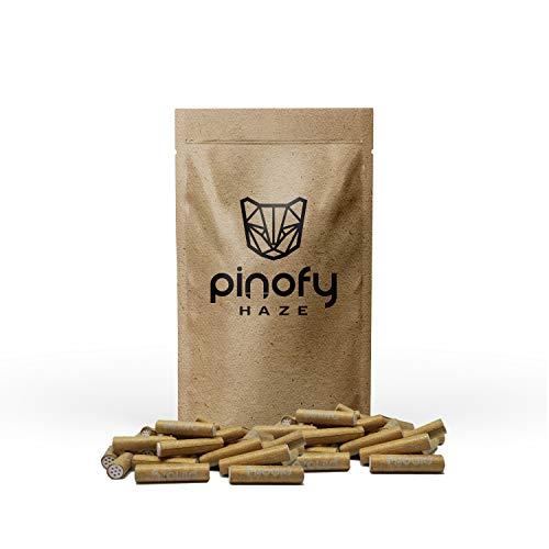 pinofy Haze Aktivkohlefilter Slim 6mm - 60 Premium ungebleichte Filter - Eindrehfilter Pfeifenfilter Rauchfilter Drehfilter mit Aktivkohle -
