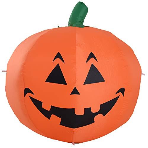 Homcom zucca gonfiabile halloween decorazione gigante con luci led altezza 1.2m