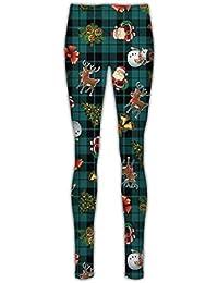 3c0c156045 Janisramone Mujer Señoras Navidad Árbol Santa Escama Reno Cara Navidad  Niños Stretchy Polainas Pantalones