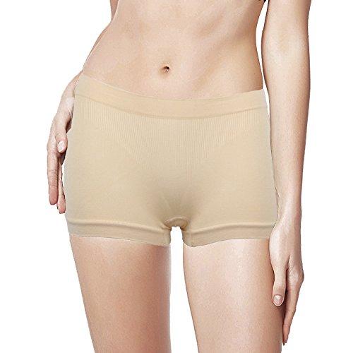 DODOING Damen Seamless Panties Pclondon Mini Shorts Yoga Panty Hipsters Boxershorts Unterwäsche (Boxer Boyshorts)