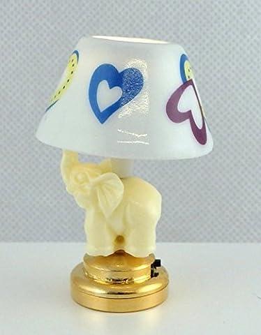 Puppenhaus Elefant Nachttisch Lampe Miniatur Beleuchtung LED Batteriebetriebenes