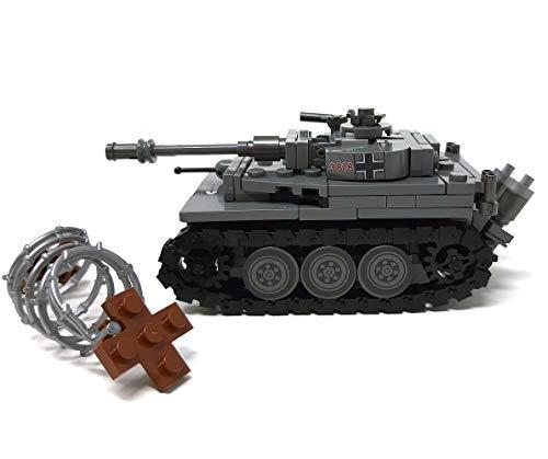Modbrix 2487 – ☠ Bausteine Tiger Panzer XX Panzerdivison inkl. Custom Elite Wehrmacht Soldaten aus Lego© Teilen ☠ - 2