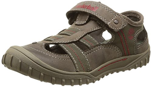 Timberland Castleton_Castleton Fisherman, Unisex-Kinder Geschlossene Sandalen, Braun (Brown with Red), 31 EU
