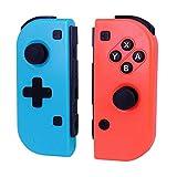 Ignatv Manettes pour Nintendo Switch ,Pro sans fil jeu Contrôleur pour Nintendo Switch - Rouge (R) et Bleu (L) (Production de tiers)