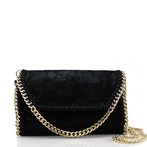 YourDezire - Borsa a tracolla donna Black/Gold