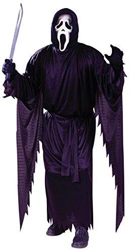 Scream Halloween Kostüm mit Umhang und Maske original Film Lizenz - schwarz - Standard - Halloween Scream