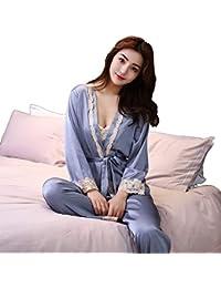 4b342486ed73 Amazon.it  vestaglia donna seta - Grigio   Vestaglie e Kimono ...