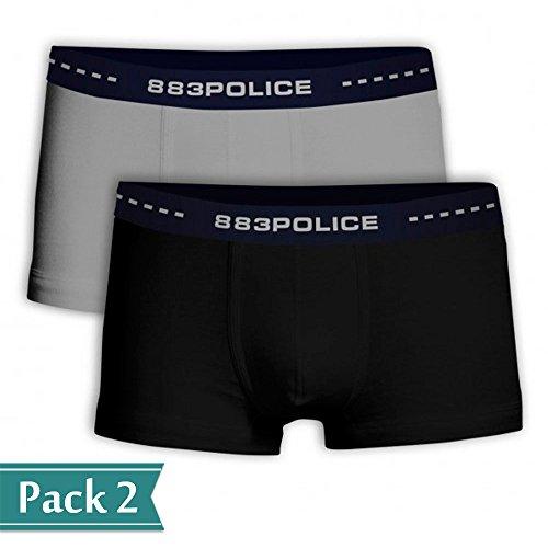 883 Police -  Boxer  - Uomo Nero / Grigio L