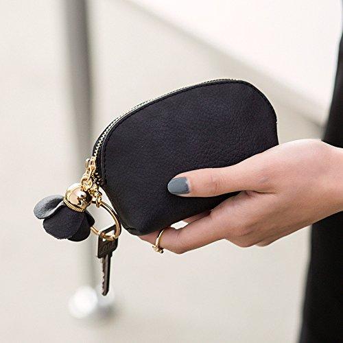MKJGD Brieftasche Kleine Brieftasche Frauen Kurze Geldbörse Schlanke Mini Brieftasche Mädchen Nette Handtaschen Kartenhalter Portefeuille Femme-in Brieftaschen 3 Femme Fringe