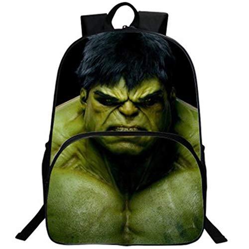 Hulk mochila bolsa de estudiante mochila de dibujos animados para niños adecuada para practicar senderismo...