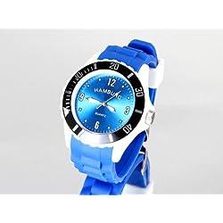 City of Hamburg Silicone Wristwatch Blue/White/Black/New