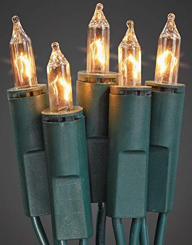 Hellum 839012 Lichterkette 100 Pisellokerzen klar / 17,85 m / innen / Zuleitung 2x1,5 m grün