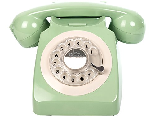 Teléfono fijo vintage dial giratorio