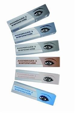 Hairforce Augenbrauen- und Wimpernfarbe tiefschwarz 15 ml Zur dauerhaften Färbung von Brauen oder Wimpern
