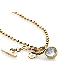 Storm Crystal Ball Gold Necklace of 48 cm