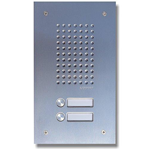 L-TEK a/b Türstation 410-2 Edelstahl für Fritzbox, Speedport und Telefonanlagen