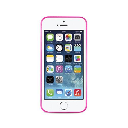 Puro Back Case Ultra Slim 0.3 Schutzhülle (für Apple iPhone 5/5S) Transparent Pink