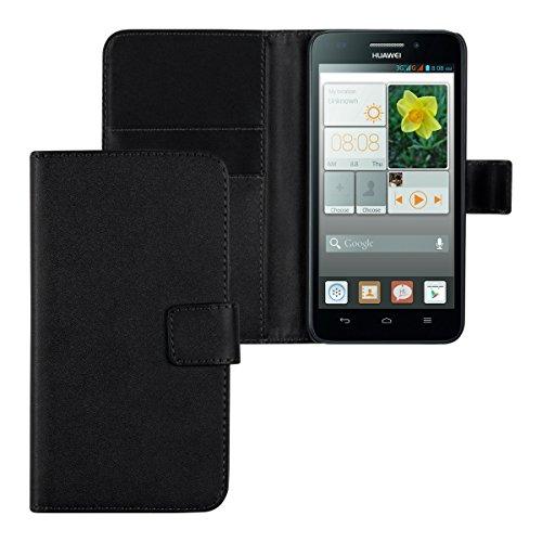 kwmobile Huawei Ascend G620s Hülle - Kunstleder Wallet Case für Huawei Ascend G620s mit Kartenfächern und Stand