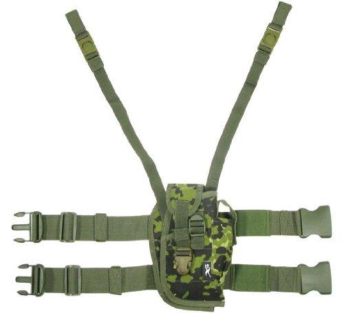 BE-X Taktisches Oberschenkelholster für Pistolen mittlerer Grösse, für Rechtshänder - dänisch tarn