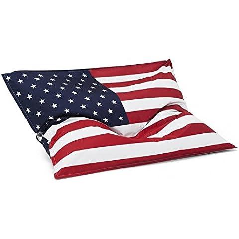 Fodera per Pouf gigante, motivo: bandiera, con sfera a 200 litri/bandiera USA/America - Sfera Giardino Bandiera