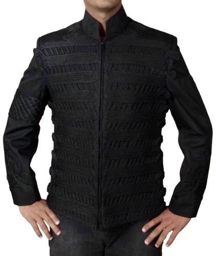 HLS Michael Jackson Black Hand Work Cotton Military Jacket (XXS)