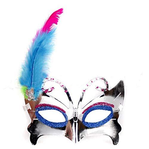 BANYANN Halloween Cosplay DekorHalf Face Butterfly Maske Party Maskenball Performance Gesichtsmaske