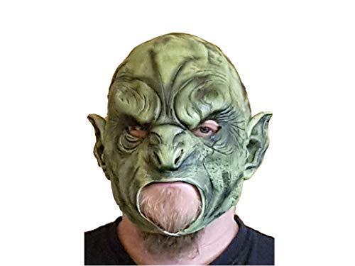 Orc Maske - Zoelibat Ork Maske grüner Orc Latexmaske
