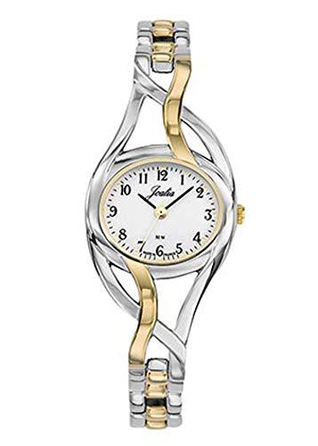 Joalia - Montre Femme - H634M007 - Bracelet Bicolore - boitier Ovale - Cadran Blanc
