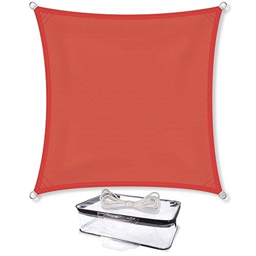 Sonnensegel Sonnenschutz Garten   UV-Schutz PES Polyester wasser-abweisend imprägniert   CelinaSun 0010546   Quadrat 4 x 4 m terrakotta (Uv-schutz-stoff)