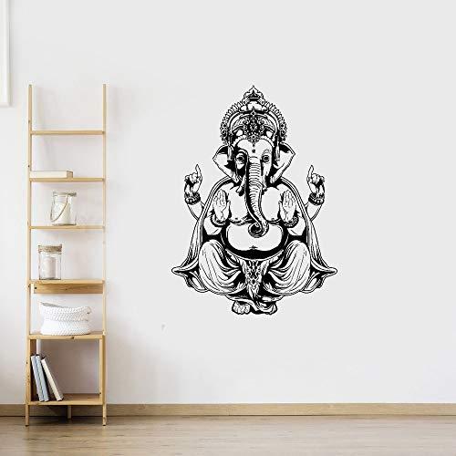 wandaufkleber 3d Wandtattoo Kinderzimmer Kunst Wohnkultur Ganesh Buddha Elefant Om Yoga Hindu Mandalay für Yoga Studio -