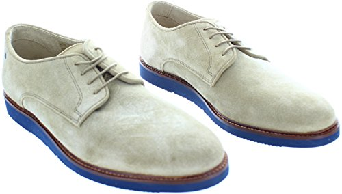BASE LONDON GARRICK QH02123 scarpe uomo derby liscio camoscio Beige