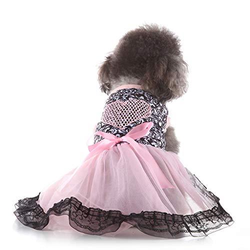 Winkey  Kleidung für Hunde, Haustier-Frühlings-und Sommer-Liebes-Herz-Rock-Hundekostüme-Haustier-Hundekleidung -