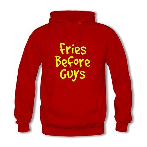 weileDIY Fries Before Guys DIY Custom Classic Women Hoodie Sweatshirt Red_A