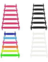 coolnice Lacets Elastiques No Tie Lacets pour Chaussures Enfants Adultes  Pratique Imperméables Silicon Etanche sans Laçage pour Sports… d5b311cde0d6
