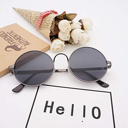 JYTDSA Runde Sonnenbrille Männer Frauen Metallrahmen Sonnenbrille Shades Oversized Eyewear Eyeglasses UV400