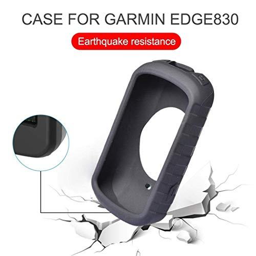 Für Garmin Edge 830 Silikonhülle Silikon Fall Abdeckung Case Skin Schlank Wireless Case Stoßfeste Schutzhülle,Anti Rutsch Silikon Soft Shock Proof Skin Schutzhülle (Schwarz)