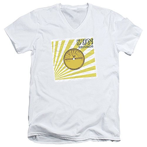 2Bhip Sun Records Media Company Record Label Fourty Five Adult V-Neck T-Shirt Tee