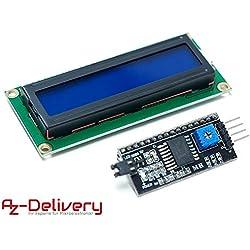 AZDelivery ⭐⭐⭐⭐⭐ HD44780 1602 LCD module afficheur bleu 2 x 16 caractères pour Arduino + I2C, y compris un eBook gratuit!