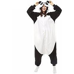 WRH Kigurumi Pijamas Panda Leotard / Onesie Ropa de dormir de Halloween Animal Patchwork Polar polar Kigurumi Unisex Halloween , xl