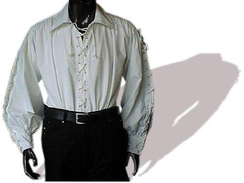 Männer Xxxl Kostüm - Imex-Moden Piratenhemd mit breitem Kragen Gr. XXXL Gothic wei� 495
