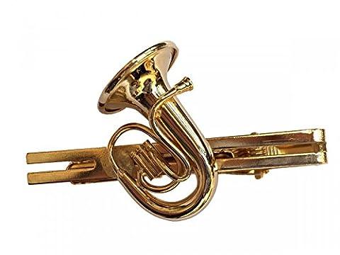 Cor ténor tuba cravate en plaqué or blasmusik miniblings boîte de rangement pour pantalon et porte-cravates