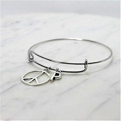 Bracelet PEACE and LOVE personnalisé | Bracelet PAIX | Bijou à initiale | Bijou personnalisé | Bijou pierre de naissance | Cadeau femme personnalisé