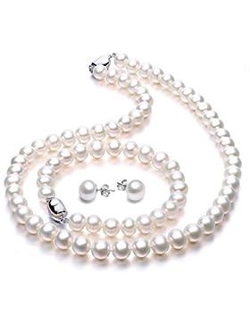 Perlenkette Perlen Halskette mit Süßwasserzuchtperlen bei VIKI LYNN