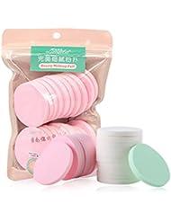 Bulary 20 PCS/sac humide et sec maquillage éponge ronde bouffée beauté outils de maquillage