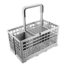 Panier à couverts universel Compatible avec les lave-vaisselles Bosch / Hotpoint / Neff / Siemens / Smeg Gris