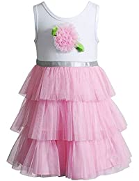 Youngland Toddler Girls Rosette Tulle Dress, Pink (4T)