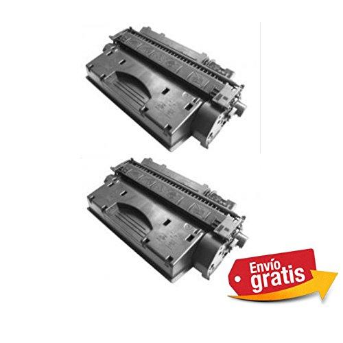 Bramacartuchos - 2 X Cartuchos compatibles HP LaserJet HP Ce505X / Ce 505X HP Laserjet 2053, 2054, 2055, 2056, 2057, P2050, P2055x, P2055d, P2055, P2055dn, 6500 copias.