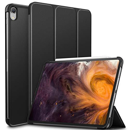 Infiland iPad Pro 11 Zoll 2018 Hülle Case, Slim Shell dünne Schutzhülle Cover Tasche für iPad Pro 11 Zoll 2018 (mit Auto Schlaf/Wach Funktion,Unterstützt Das Aufladen des Apple Pencil),Schwarz