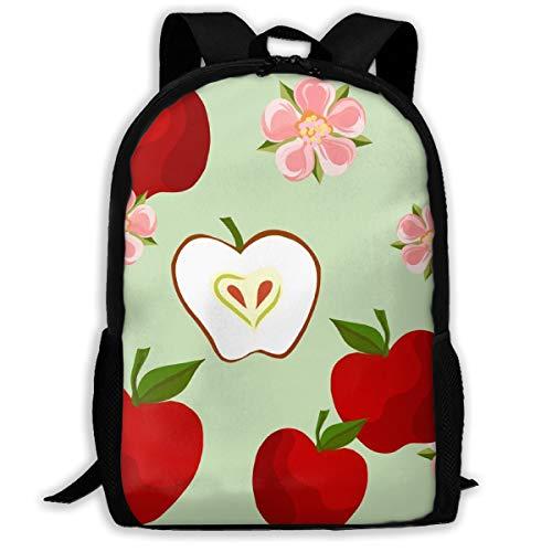 Apple Blossom Green_6940 Classic Rucksack Travel Laptop Rucksack, College School Student Rucksack für Männer und Frauen -